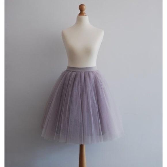 5b3979605e Skirts | Smoky Dusty Lavender Tulle Skirt | Poshmark